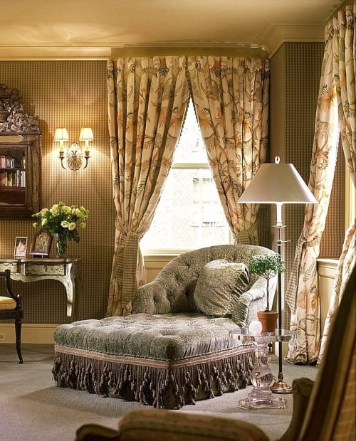 Curtains & Drapes by Chelsea Textiles seen at Private Residence, New York - Tree of Life With Flower & Fern