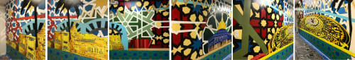 Murals by CJ Hungerman seen at 55 W Van Buren St, Chicago - Abrahamic Center for Cultural Education