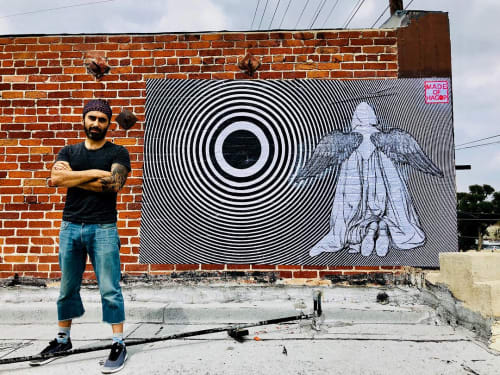 Street Murals by Made of Hagop seen at Crystal Matrix, Los Angeles - Journey
