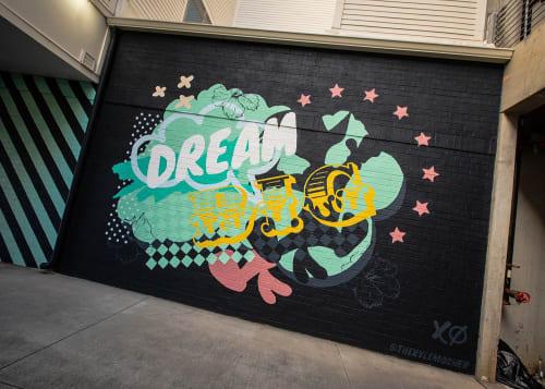 Street Murals by Kyle Mosher seen at Alexan Optimist Park, Charlotte - Dream Big