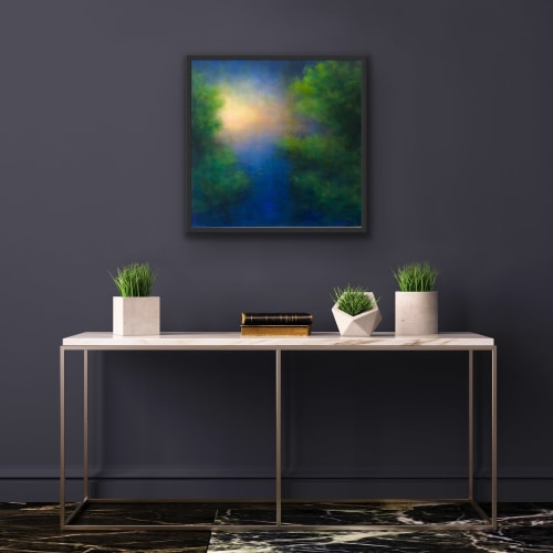 Paintings by Victoria Veedell seen at Private Residence, Yonkers - Evening Light - Cancun