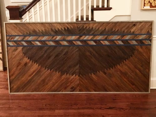 Furniture by Sweet Home Wiscago at Private Residence, Chicago, IL, Chicago - Wood Art Headboard