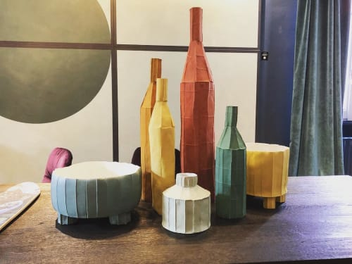Sculptures by Paola Paronetto seen at Archiproducts Milano, Milano - Paper Clay Collection