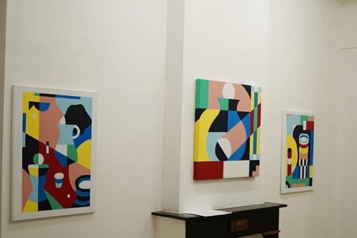 Paintings by Jacco Bunt seen at Private Residence, Rotterdam - Dolce Vita