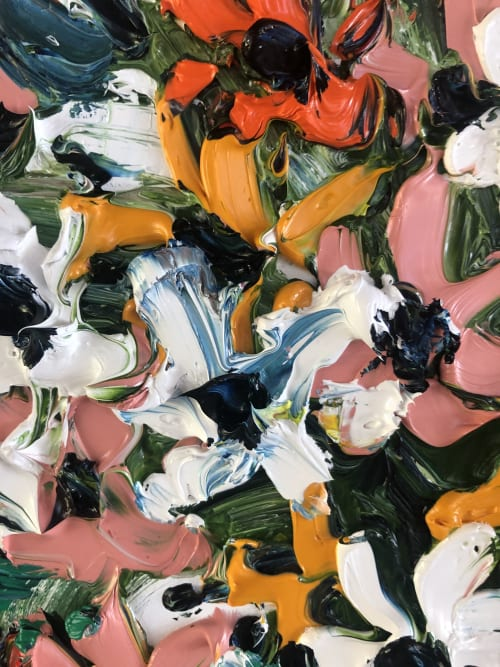 Paintings by Nada Herman seen at Private Residence, Avalon Beach - Daisy Bouquet