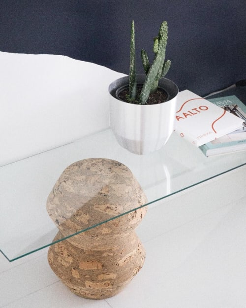 Tables by YIELD seen at CASACOR Miami, Miami - Custom Cork Side Table