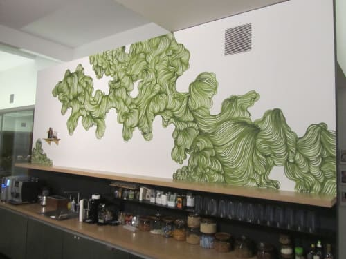 Murals by Paz de la Calzada seen at 836 Montgomery St, San Francisco - Flow