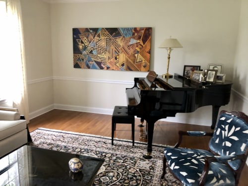 Paintings by Rae Heller seen at Private Residence, West Windsor Township - Beach Day