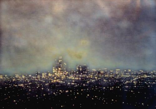 Paintings by Dennis Ekstedt seen at The St. Regis Abu Dhabi, Abu Dhabi - Abu Dhabi Skyline