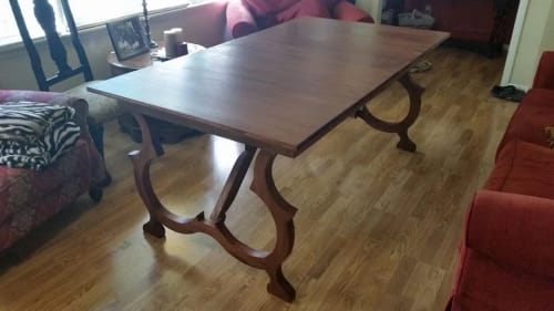 Tables by Old Line Craft seen at Private Residence, Birmingham - Mahogany Spanish Extension Table