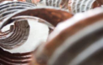 Sculptures by Jeff Thomson seen at Hotel DeBrett, Auckland - Copper Spirals