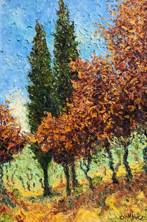 Paintings by Rob Crombie seen at Cuyahoga Falls, Cuyahoga Falls - Coppers of Autumn