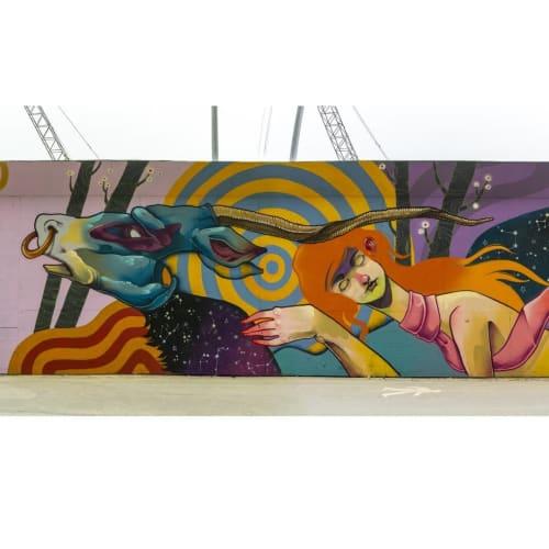 Street Murals by Isaac Malakkai seen at Ny Ellebjerg, Valby - Street mural
