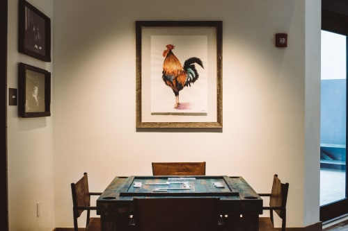 Paintings by Clementine Studio seen at The Perry Hotel - Key West, Key West - Key West Rooster