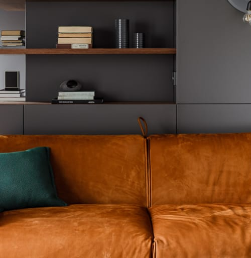 Interior Design by Milano Bedding seen at Private Residence - Modern Russian apartment with Parker sofa bed
