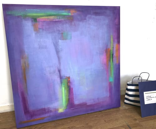 Paintings by Kat Evans seen at Private Residence, Munich - Singing that blue note which deepens the song II