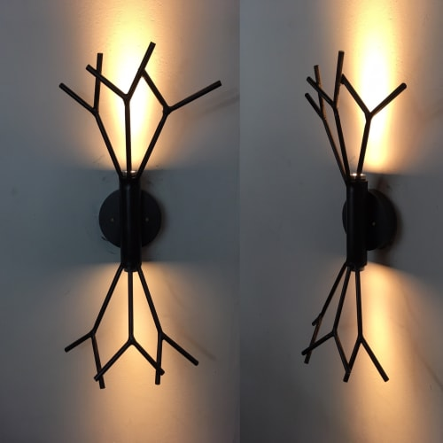 Sconces by CP Lighting at Hotel Vermont, Burlington - LED Twig Sconce