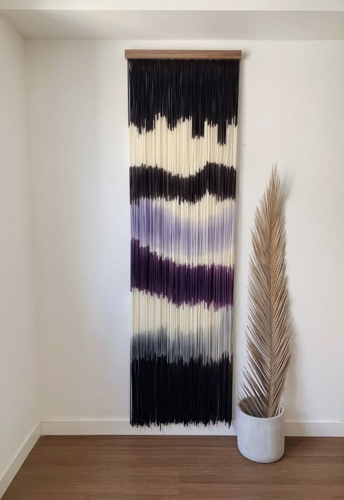 Wall Hangings by Kait Hurley Art seen at Private Residence, Washington - Amethyst