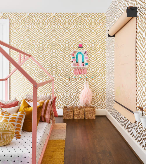 Wallpaper by Relativity Textiles seen at Private Residence, Hinsdale - Whimsical Playroom