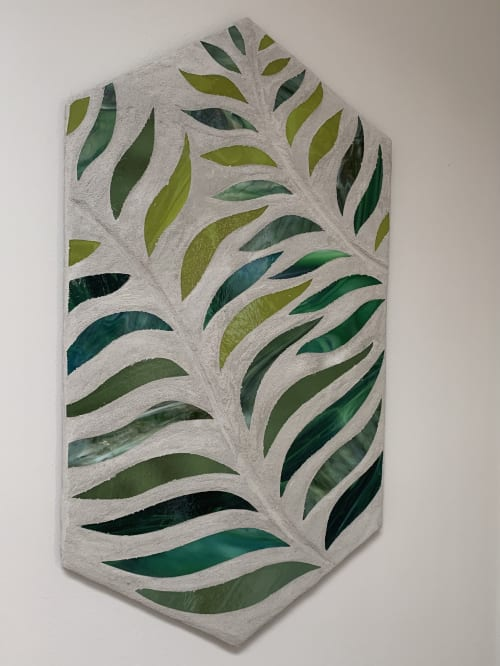 Wall Hangings by Annie Sinton Glass seen at Private Residence, Wilmington - SIster Fern Mosaics