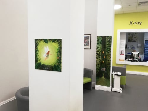 Murals by James Croft seen at Charles Clifford Dental Hospital, Sheffield - Tooth Fairy Door