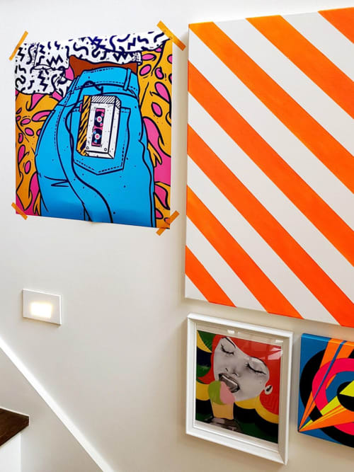 """Wall Hangings by Evgenia Chuvardina seen at Private Residence, Atlanta - Art print """"Baby one more time"""""""