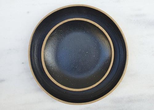 Ceramic Plates by Sofia Ceramics seen at Nopi, London - Side Plate Black Matte