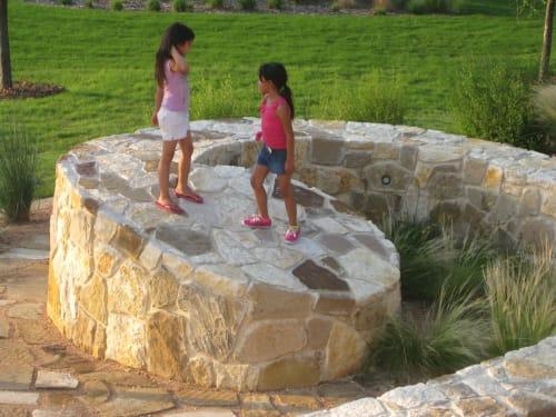Public Sculptures by Sere Ltd. Water Land Art .   Home for the Rain .   Art for the Tides . seen at Concepcion Park, San Antonio - River Return