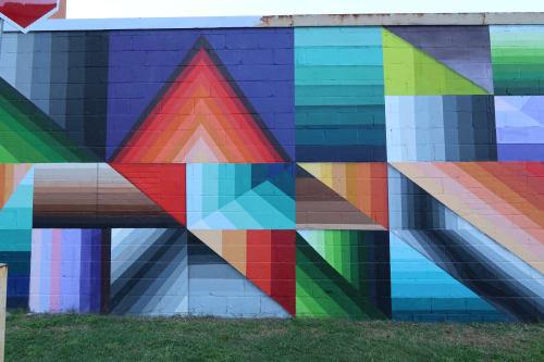 Street Murals by Nathan Brown at Barista Parlor Golden Sound, Nashville - Barista Parlour mural