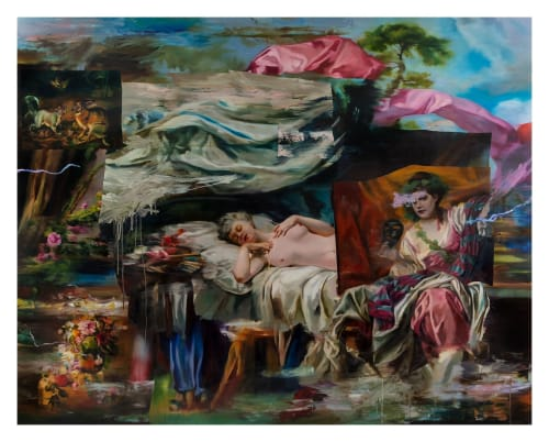 Paintings by simon casson seen at Creator's Studio, London - 'Nighst Mizmaze