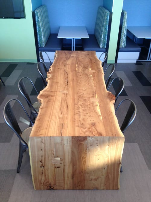 Tables by Urban Lumber Co. seen at Oracle - Austin, Austin - Live Edge Elm Tables