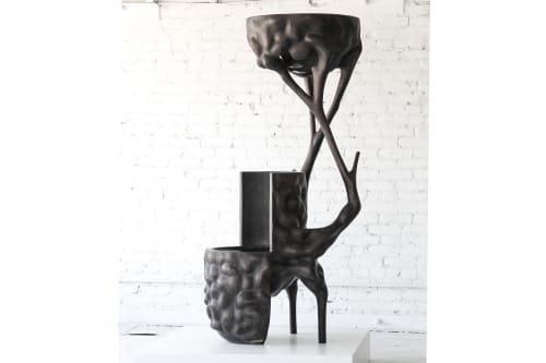 Sculptures by Vincent Pocsik seen at FF-1051 Gallery, Los Angeles - Chairlamp