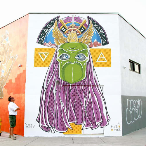 Street Murals by Noty Aroz seen at Miami, Miami - Coco Marco