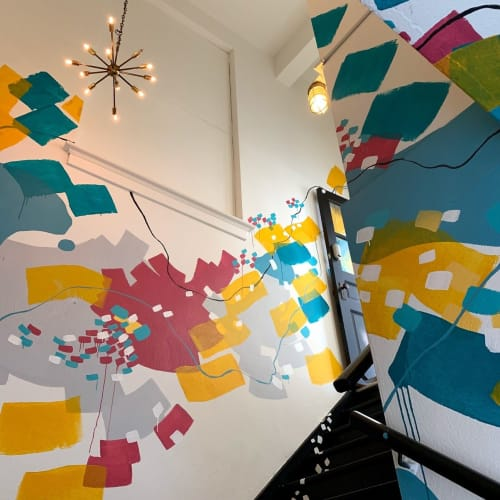 Murals by Pamela J. Black seen at 316 4th St, New Cumberland - Abstract Stairway Mural