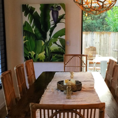 Paintings by Tracey Knowland seen at Private Residence - Banana Flower