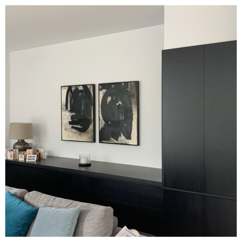 Paintings by Emilie Heurtevent seen at Private Residence, Melbourne - Mother #1 and #2