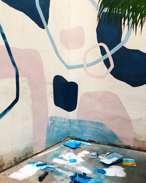 Murals by maja dlugolecki seen at Hotel Alma Barcelona, Barcelona - hotel alma barcelona, atrium mural