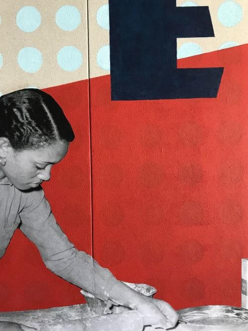 Murals by Cory Bernat seen at Acme pie company, Arlington - Original Murals for ACME Pie Co.