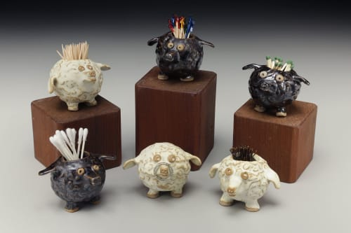 Tableware by Crazy Green Studios seen at The Village Potters Clay Center, Asheville - Sheeples