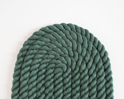 Sculptures by Cindy Hsu Zell seen at Creator's Studio, Los Angeles - Large Rope Arch (Forest Green)