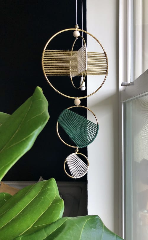 Macrame Wall Hanging by Knots to Mention seen at Private Residence, Ventura - Orbital Hanging
