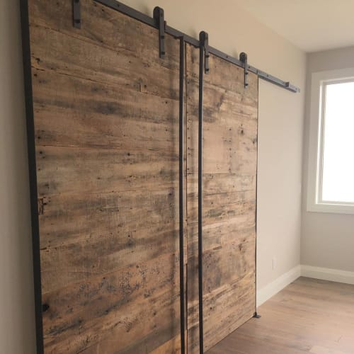 Furniture by Michael Difazio Reclaim Artistry seen at Private Residence, Amherstburg - Barndoors Slider