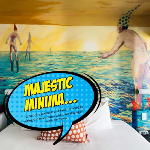 Murals by Elizabeth Wojciak seen at Majestic Minima Hotel, North Adelaide - Wall Mural