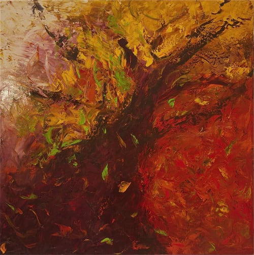 Paintings by Jill Krutick seen at Private Residence, Mamaroneck - Autumn Sleeves