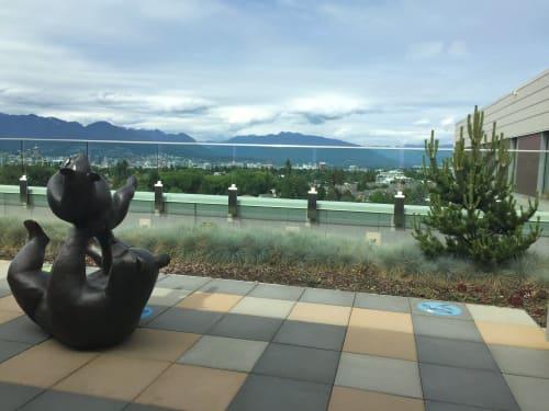 Public Sculptures by John McKinnon seen at BC Children's Hospital, Vancouver - Bear Suite #1