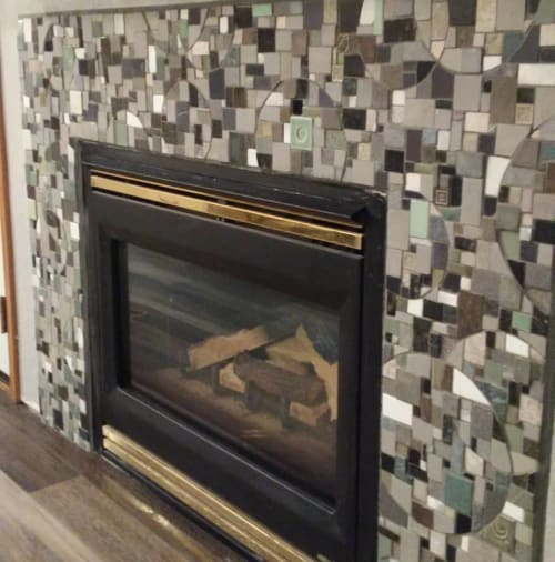 Art & Wall Decor by JK Mosaic, LLC seen at Private Residence - Tile Fireplace Surround