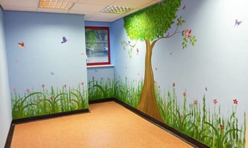 Murals by Joanna Perry Mural Artist UK seen at Train Station Day Nursery, Radcliffe - Indoor Mural