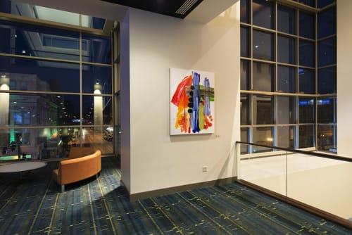 Paintings by Mary Zeran seen at US Cellular Center, Cedar Rapids - Abstract Painting