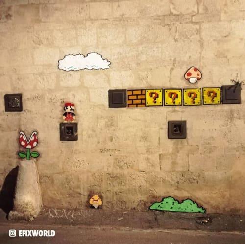 Street Murals by EFIX seen at Montpellier, Montpellier - Mario