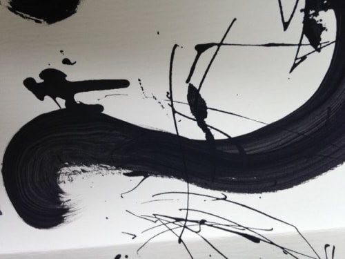 BLACK LINE CRAZY | Designed by Mary van de Wiel - Paintings and Art